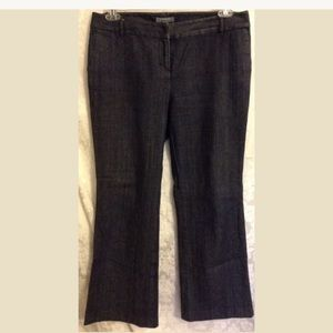 Ann Taylor Petites Dressy Blue Denim Trousers 10P